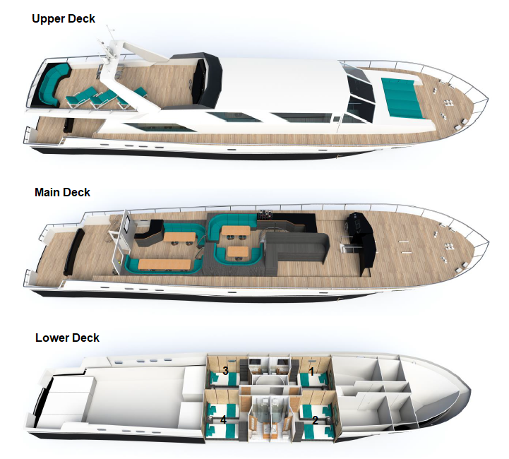 Deck Plan M/Y Nortada